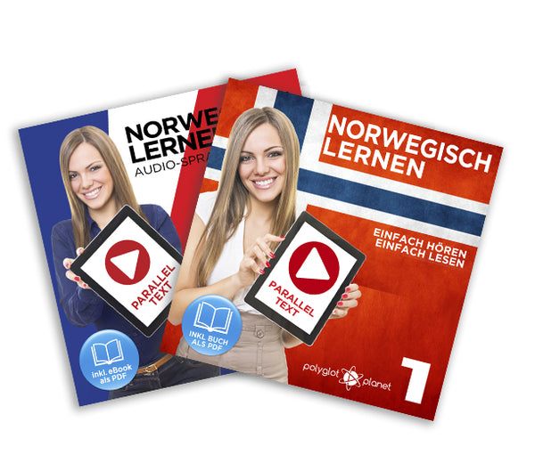 Norwegisch Lernen: Einfach Lesen - Einfach Hören - Paralleltext [Norwegisch Audio-Sprachkurs Nr. 1 & 2] Der Norwegisch Easy Reader - Easy Audio Sprachkurs