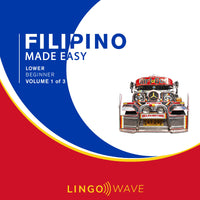 Filipino Made Easy - Lower beginner - Volume 1-3