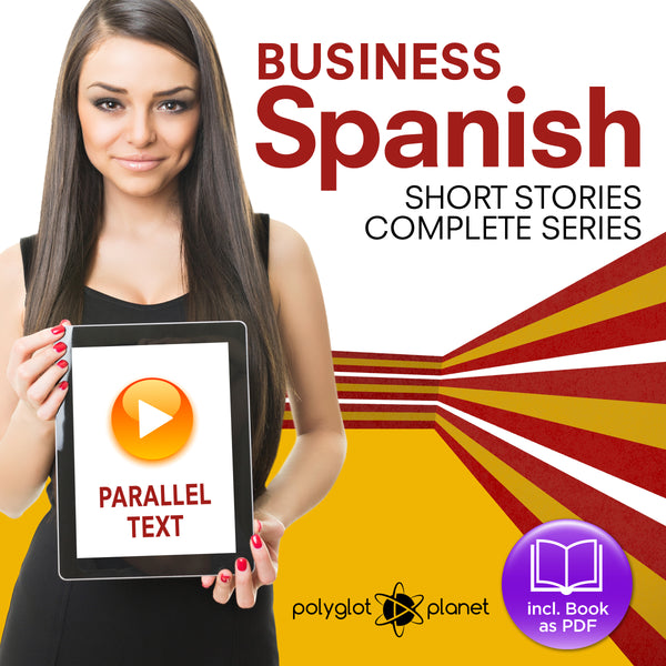 Business Spanish Audiobook - Parallel Text - Complete Series [Audiobook + eBook] Part 1-4