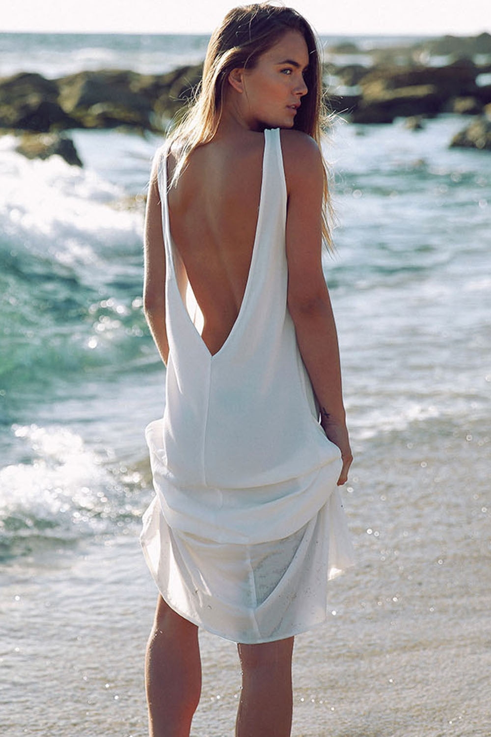 White Chiffon Beach Tunic
