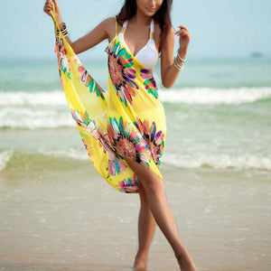 Chiffon Floral Cover-Up