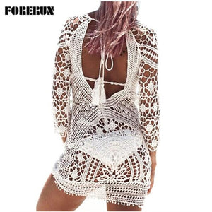 Crochet Lace Cover-up Dress