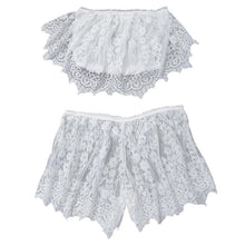 Plunging Lace Bralette & Shorts Set