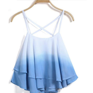 Dip Dye Ladies  Frill Cami Top