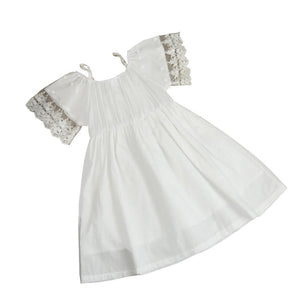 White Girls Lace Boho Dress