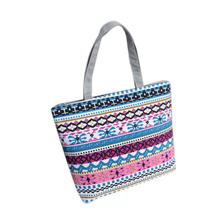 Boho Canvas Beach Tote