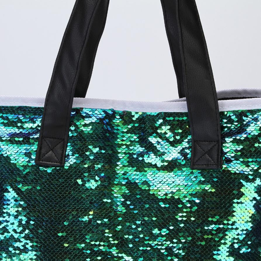 49062fe5c2d00 Mermaid Sequin Shoulder Tote Bag