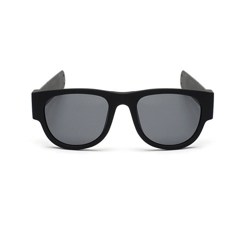 Folding Rubber Snap Arms Beach Sunglasses
