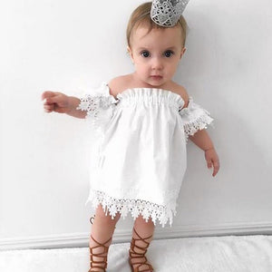 Toddler/Girls Lace Trim Dress