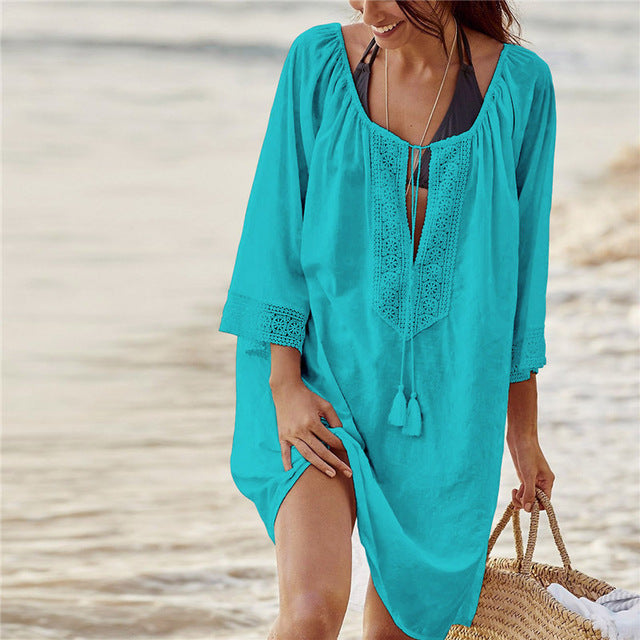 Stunning Bikini Cover Up with Lace insert