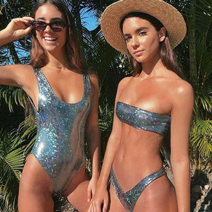 'Melting Pot ' - Metallic Look Swimsuits