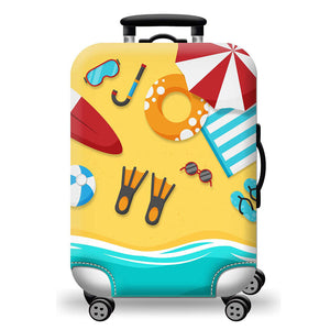 Beach Holiday Washable Suitcase Cover