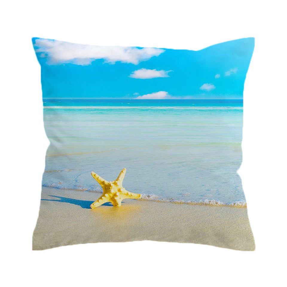 Oceanside Beach Throw Cushion Covers