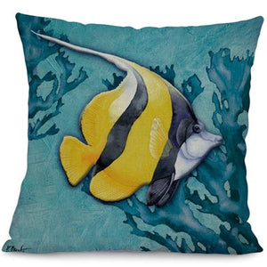 Tropical Fish Cushion Cover