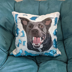 Sequin pillow of your pet