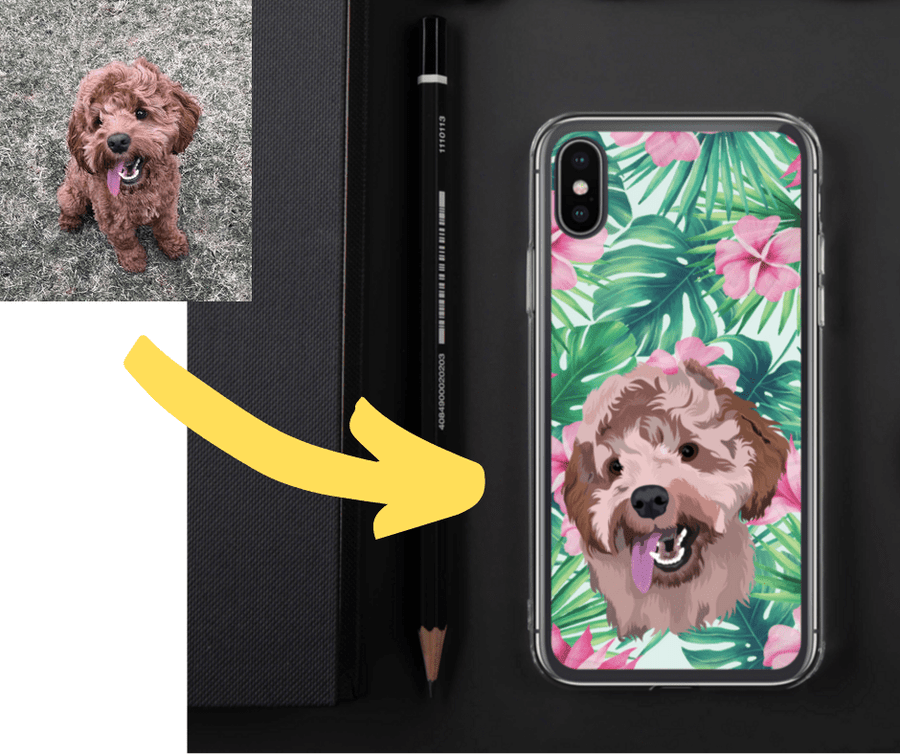 dog phone case pet loss gifts personalised phone case dog loss gift cat memorial gift Personalized Pet Phone Case in floral pattern