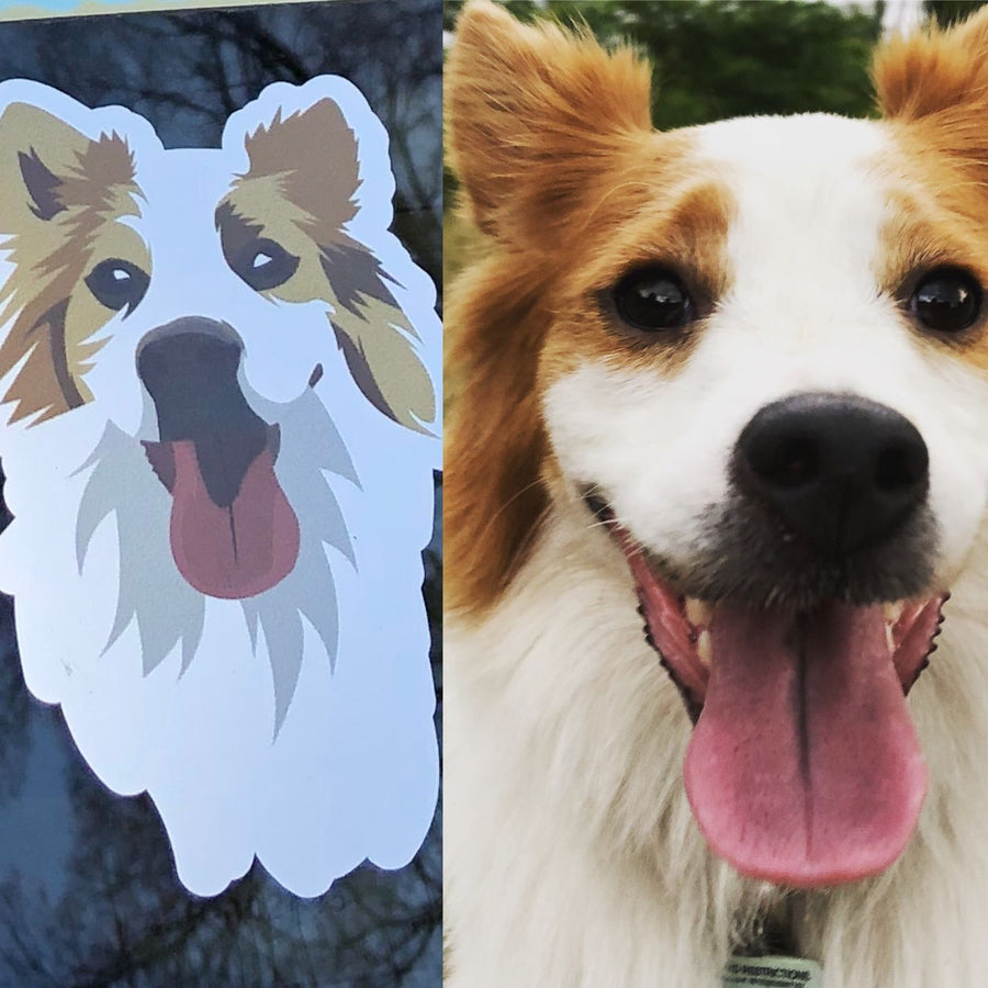 Custom Color Die Cut Decal of Your Pet
