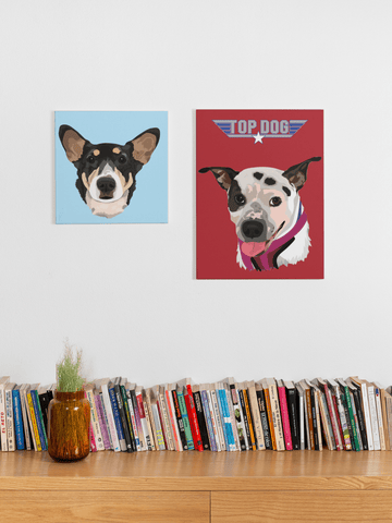 Pet portrait custom posters
