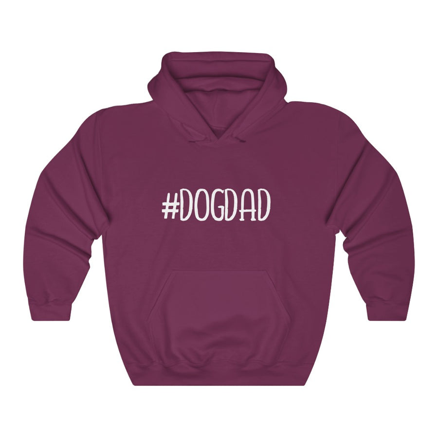 Dog Dad Hoodie - Hashtag Text