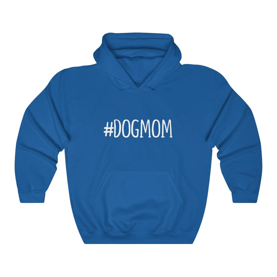 Dog Mom Hoodie - Hashtag Text