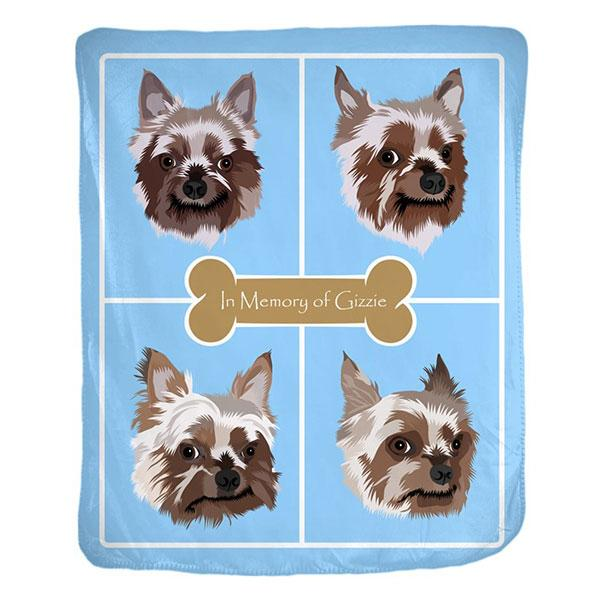 Custom Pet Memorial Fleece Blanket