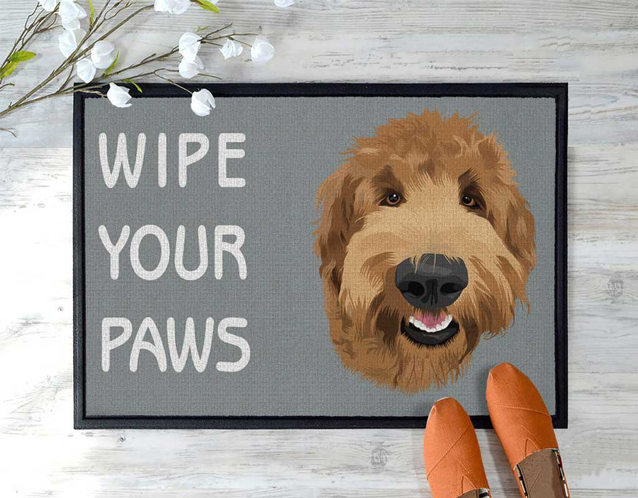 Custom wipe your paws door mat
