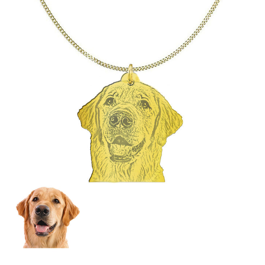 Personalized gold necklace of your pet