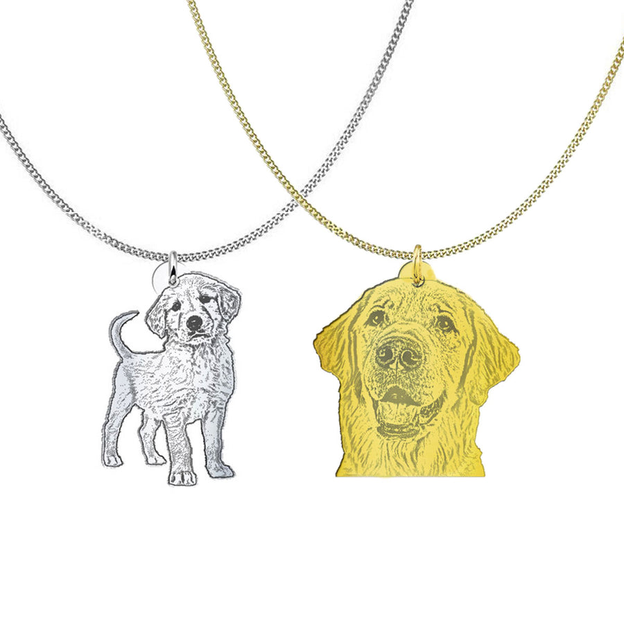 Custom necklace of your pet from photo