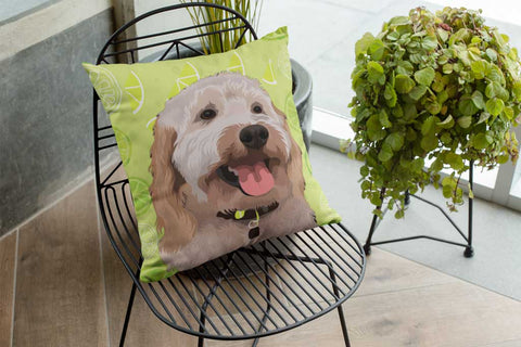 Personalized throw pillow for loss of pet