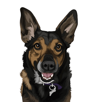 MyPetPrints Color Digital Pet Artwork