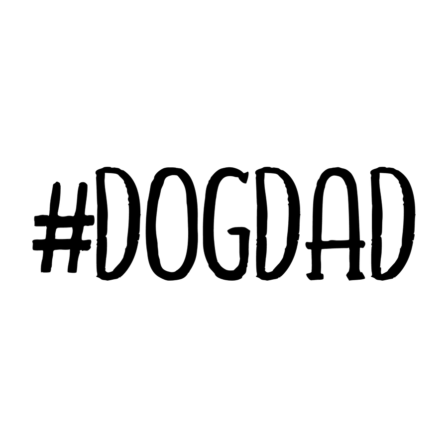 Dog Dad Decal - Hashtag Text