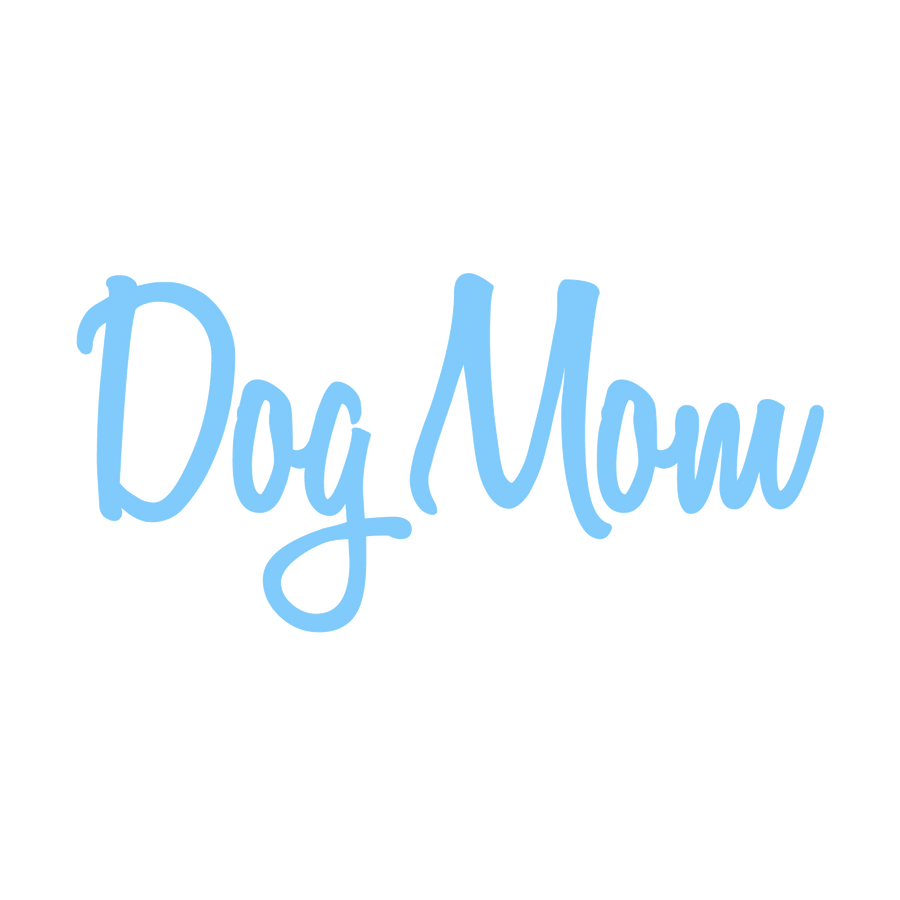 Dog Mom Decal - Handwriting Text