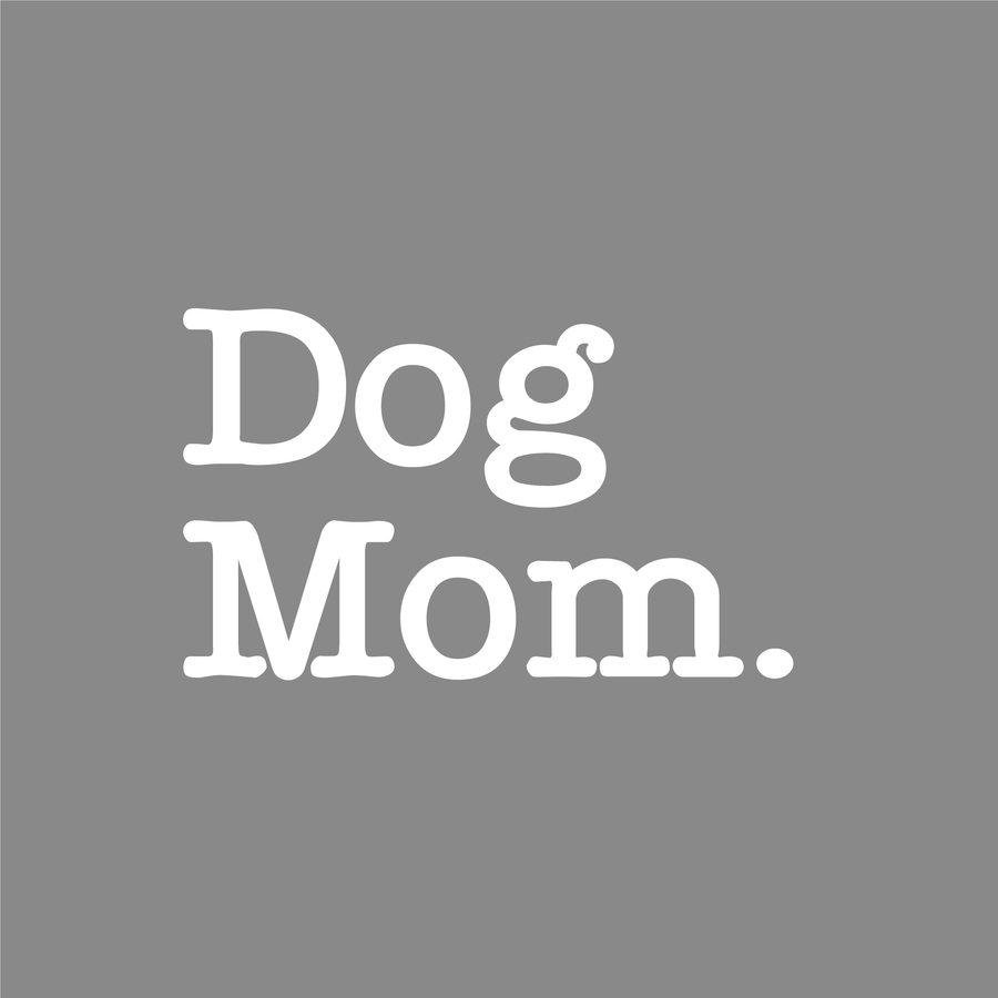 Dog Mom Decal - Typewriter Text