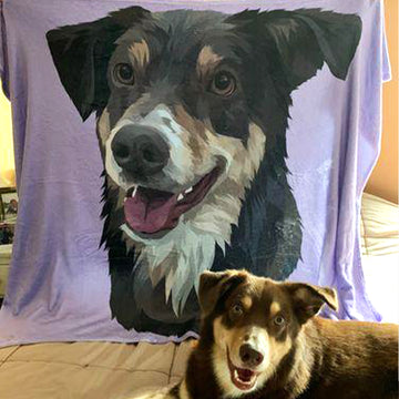 Print your pet on a blanket