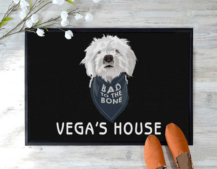 Custom pet floor mat with text