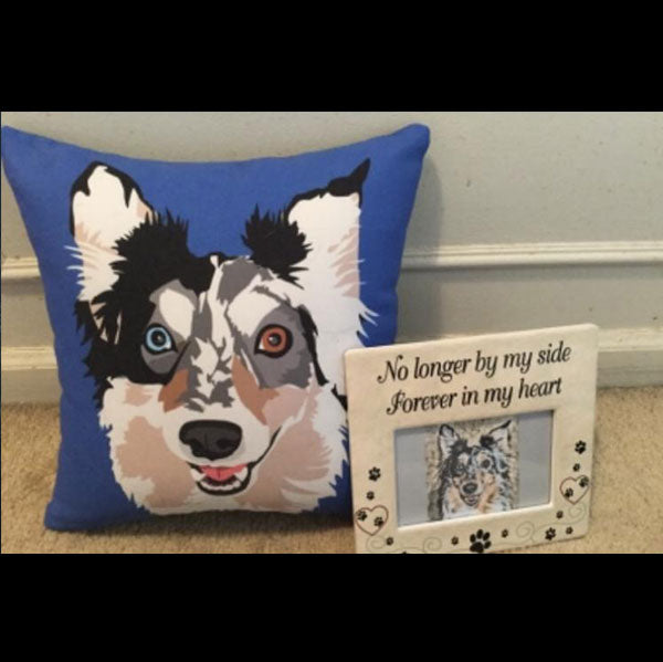 Custom Pet Couch Pillow With Cover