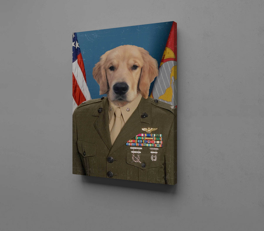 The Marine - Custom Pet Canvas