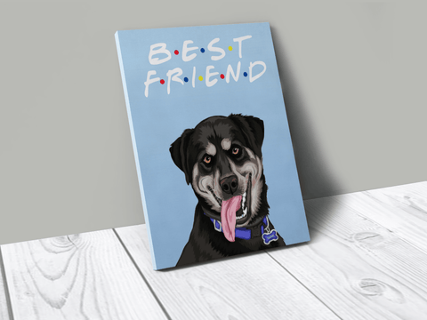Custom pet canvas for loss of dog