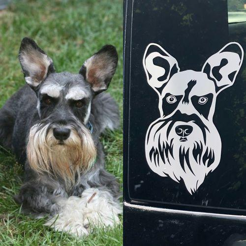 Custom Car Decal/Sticker of Your Pet
