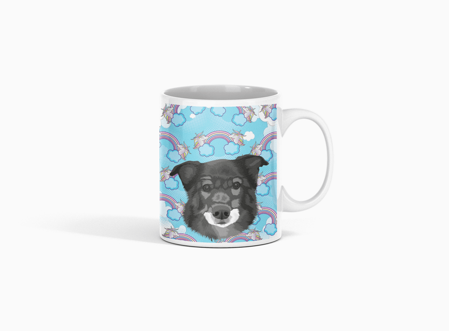 personalized mug with your pet's face