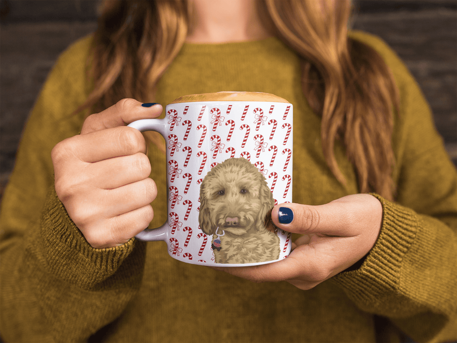 dog mom with photo mug