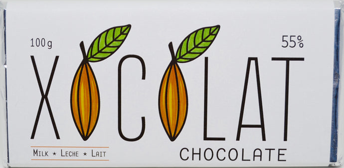 Dark Milk Chocolate 55% Cacao (30g or 100g)