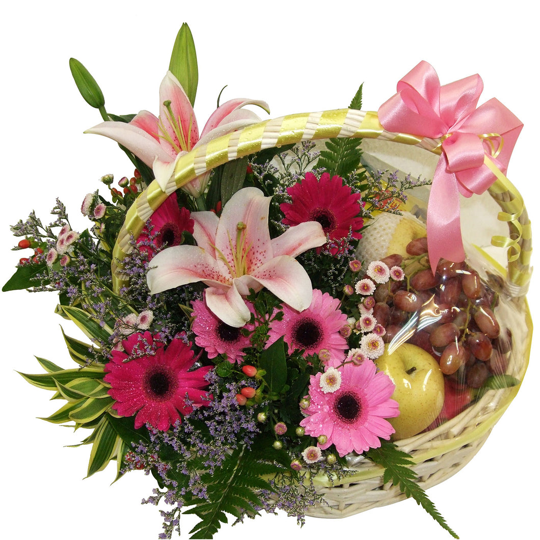 Floral Fruits Basket 03 Hong Lim Florists