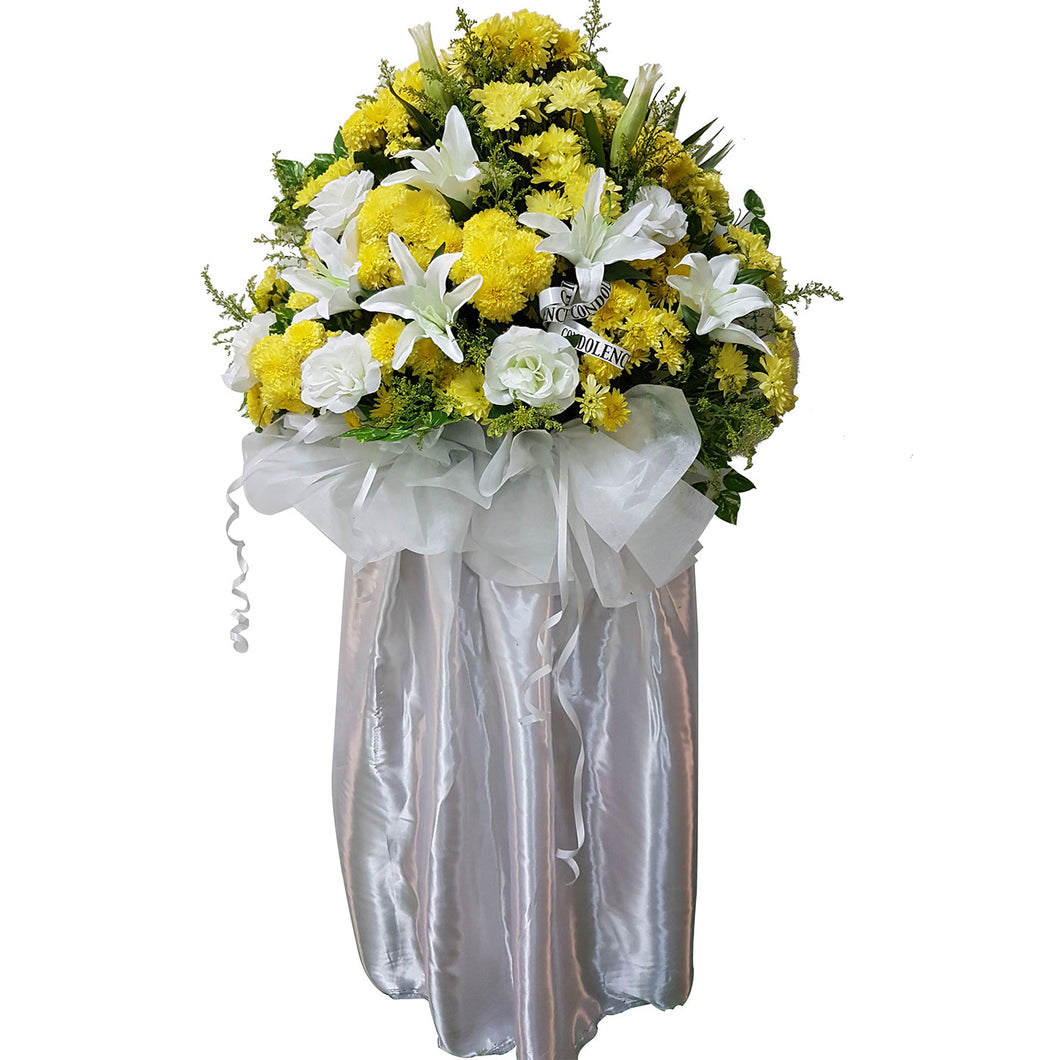 Condolence Floral Stand 06
