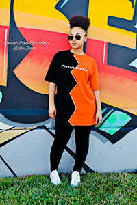Black/Orange Split Shirt