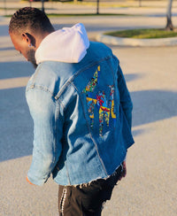 DC Comic Denim Jacket-Medium Wash