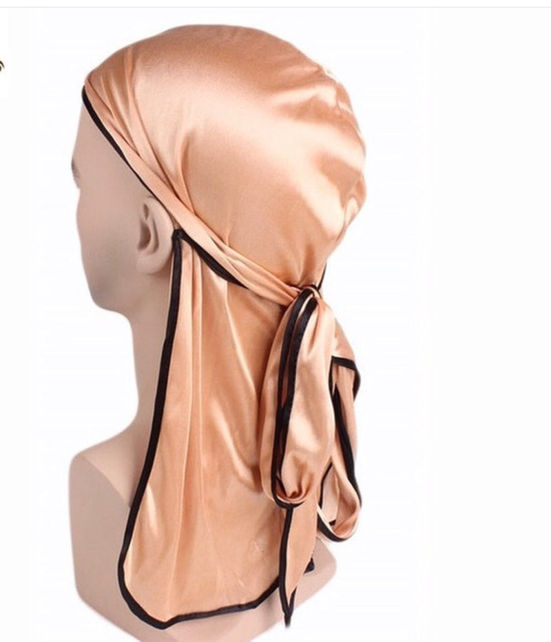 Gold Satin Silk Durag