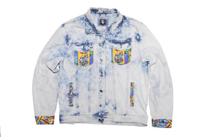 DC Comic Denim Jacket-Acid Wash