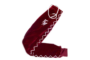 Women Burgundy Velour Tracksuit Bottom
