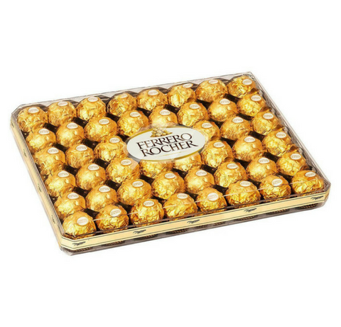Ferrero Rocher Fine Hazelnut Chocolates, 48 Count Flat